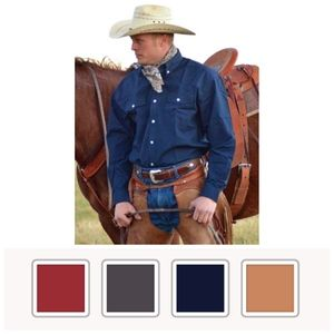 WYOMING TRADERS OVERSIZED TWILL WESTERN SHIRTS